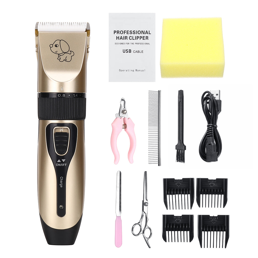 Pet Clipper Electric USB Rechargeable Hair & Nail Pet Grooming Kit