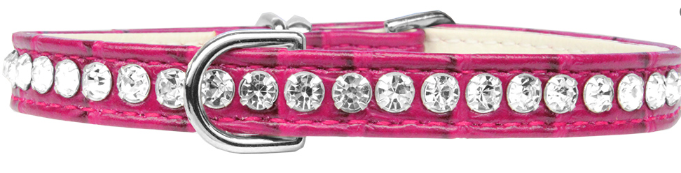 PalPet Signature Leather Crystal Dog Collar Beverly Style Rhinestone Designer Croc