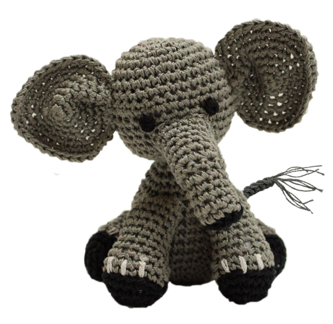 Animal Knitted Organic Cotton Knit Pet Toy