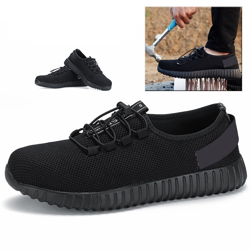Men's Safety Shoes Waterproof Work Running Hiking Camping Shoes Non-slip soft