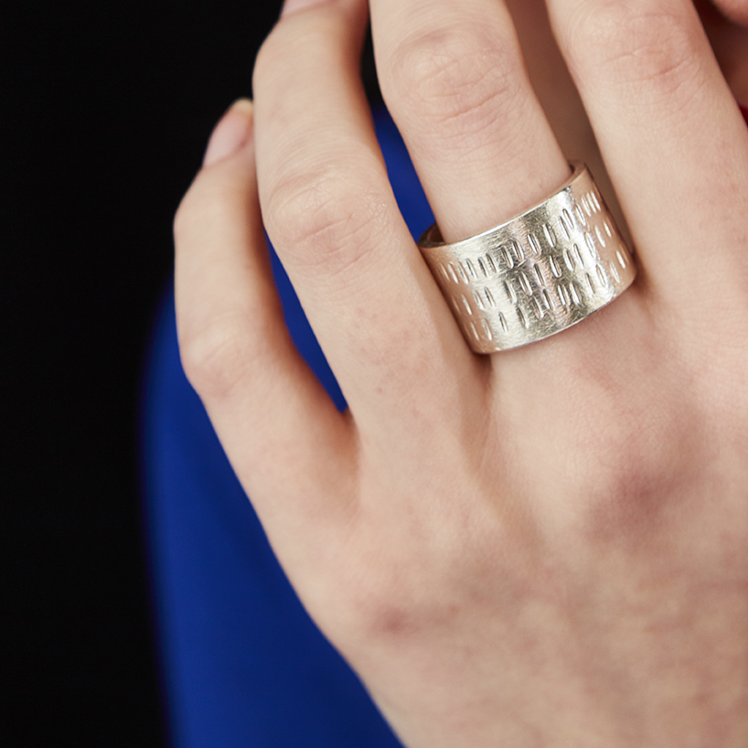 Men's Seriously Chunky Stitch Ring