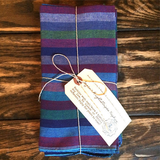 Hand-loomed cotton napkins
