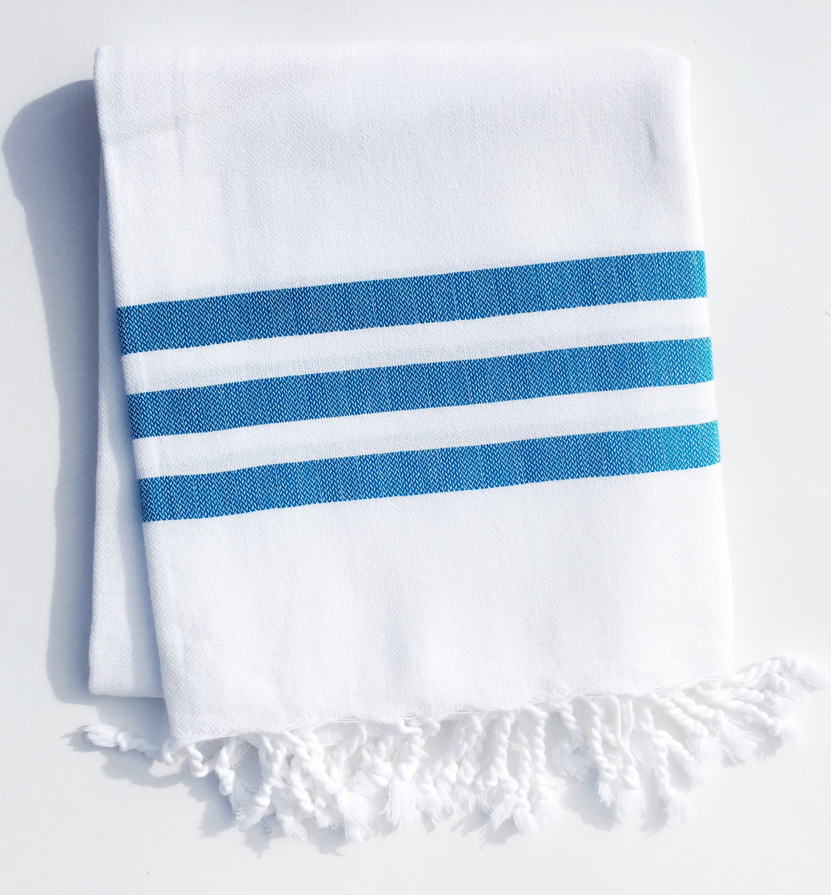 Bandol Organic Hand-loomed Absorbent Turkish Towels - Turquoise ...