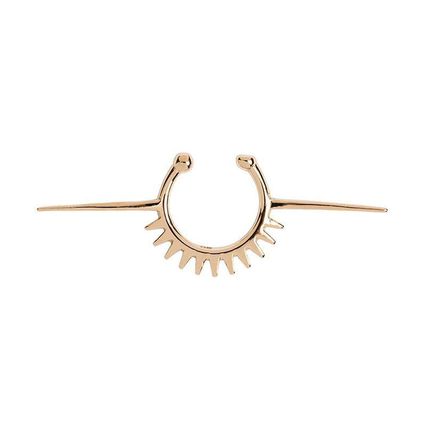 Black Heart Spikes Nose Ring