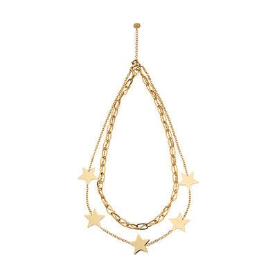 House of Hermes Star Shape Double Chain Necklace Set