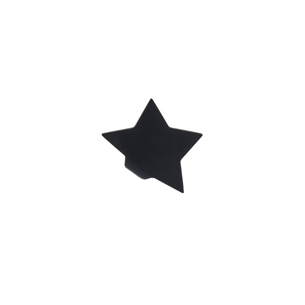 black star stud earring