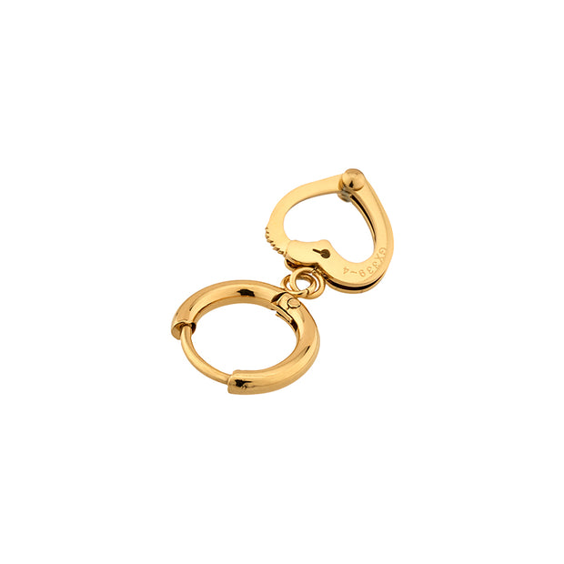 GX339-4 Heart Hoop Earrings