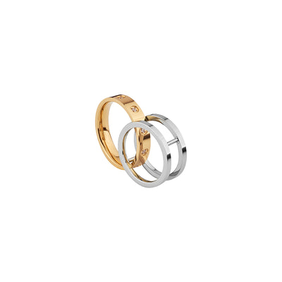 Georgium Sidus Bicolor Cross Design Rings