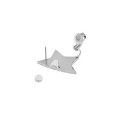 House of Hermes Half Fold Star Shape Stud Earring