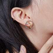 Georgium Sidus Bicolor Orbit Stud Earrings
