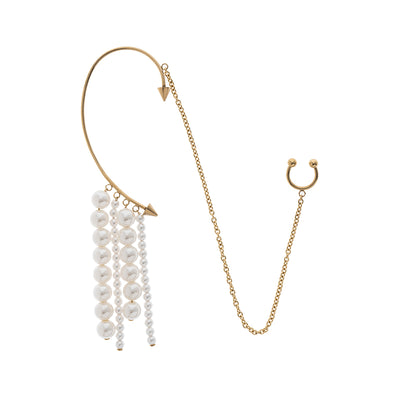 Junior A Tassel Decor Cuff Earring& Nose Ring