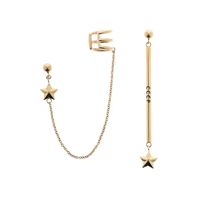 Generation π The Slogan Star Pendant Drop Earrings Set