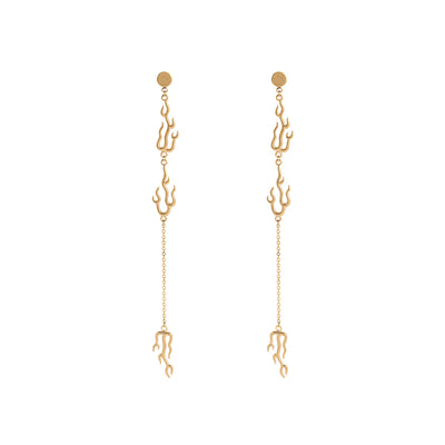 The Seven Deadly Sins- Lus Flame Shape Drop Earrings