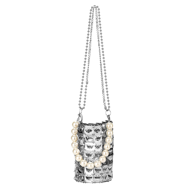 Dreamland Collection Claw Butterfly Metallic Chain Bag