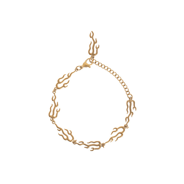 Flame Shape Chain Bracelet