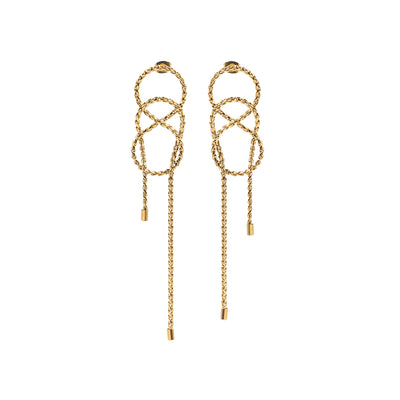 Kitam Club Chain Twine Earrings
