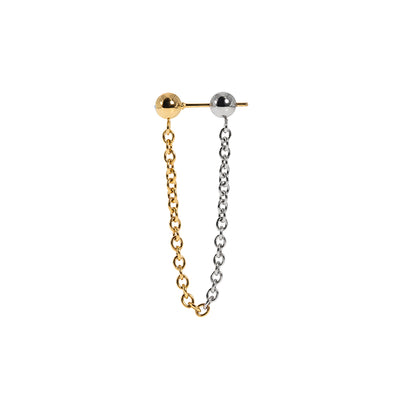 Dreamland Exchange Bank Bicolor Metal Chain Earring