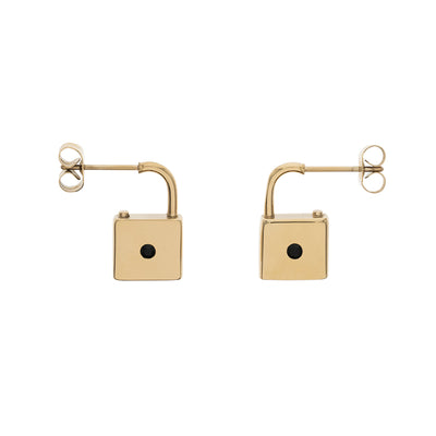 Generation π Secrets of Petersburg Lock-Shaped Stud Earrings