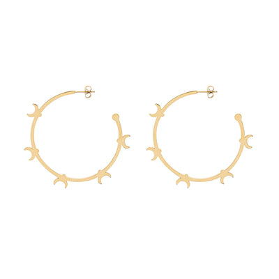 Generation π Secrets of Petersburg Crescent Shaped Hoop Earrings