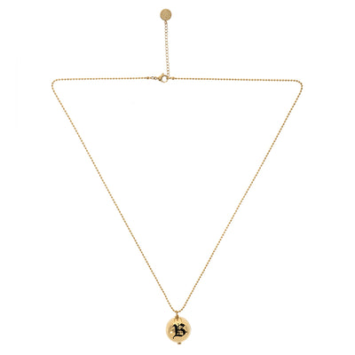 Blackhead gold long necklace