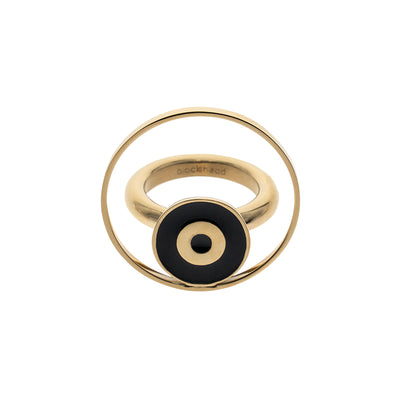 Gold Eyeball Shape Ring