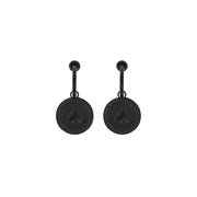 Dreamland Exchange Bank Coin Shape Drop Earrings