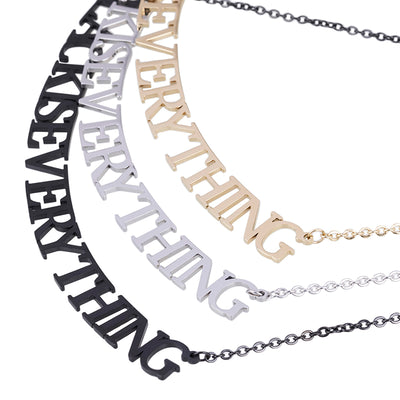 Shan Hai Jing BLACK IS EVERYTHING Necklace