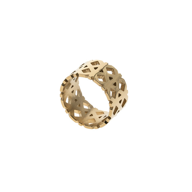 Generation π The Slogan Rhombus Shape Ring