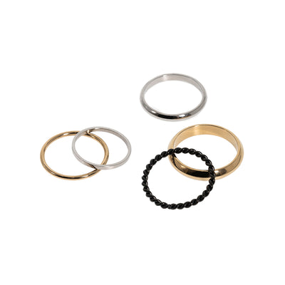 Sun Rain Collection Rings Set