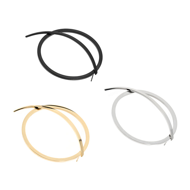 BLACKHEAD hoop earrings