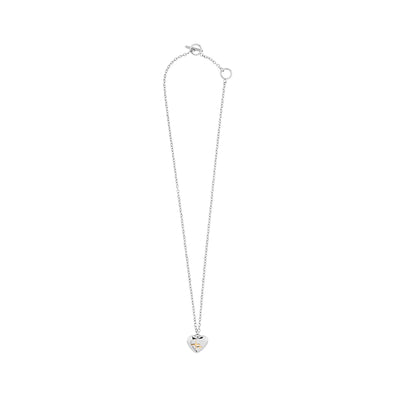Highlight Bicolor Heart- Star Shape Necklace