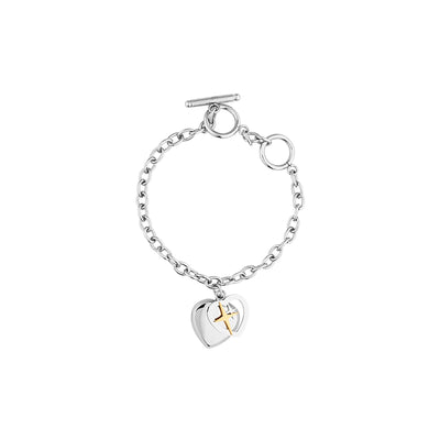 Highlight Heart Shape Chain Bracelet