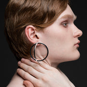 gold hoop earrings men