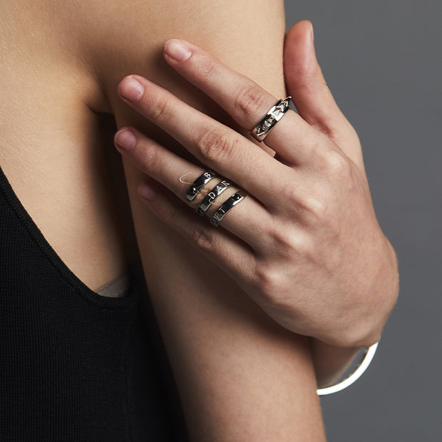 Black Heart Wrapped Ring
