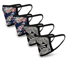 Load image into Gallery viewer, Vintage 4 Pack Face Mask - Reusable & Washable - Antimicrobial Finish - USA Made