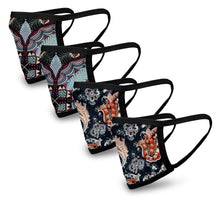 Load image into Gallery viewer, Gypsy 4 Pack Face Mask - Reusable & Washable - Antimicrobial Finish - USA Made