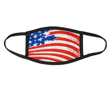 Load image into Gallery viewer, USA Flag Black Face Mask - Reusable & Washable - Antimicrobial Finish - USA Made