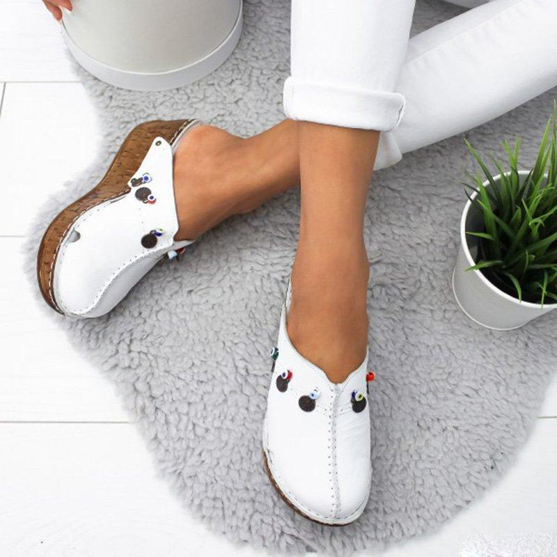 Wedges Casual Elegant Closed Toe Women Sandales