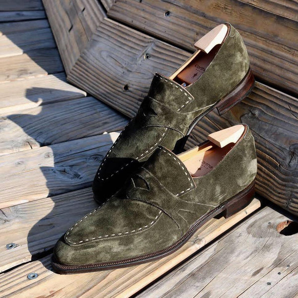 Handmade Suede Leather Retro Shoes