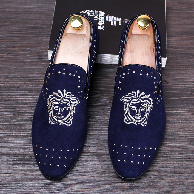 Pointed Toe  Face Men Loafers