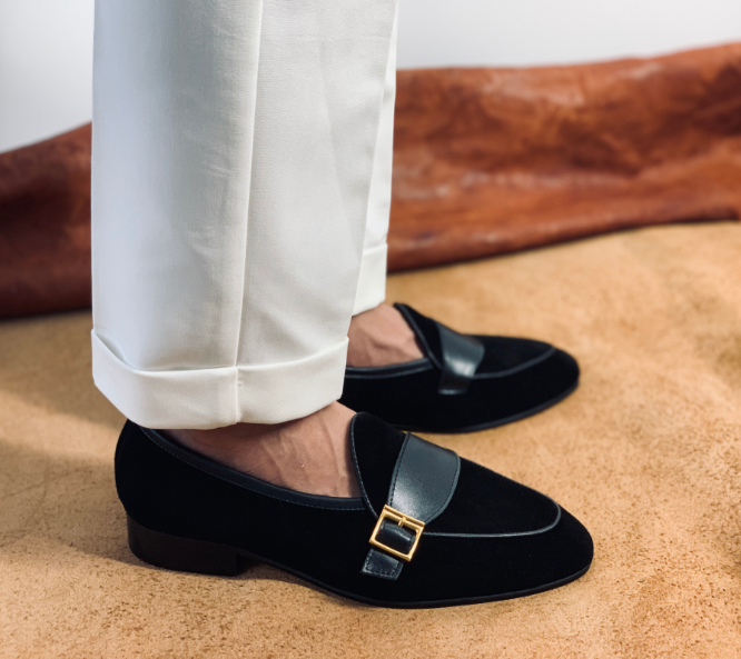Men's Retro Buckle Loafers