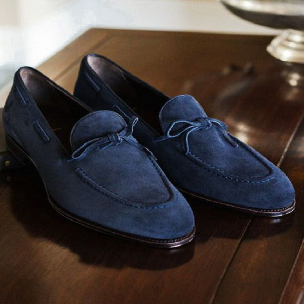Suede Bow Men shoes