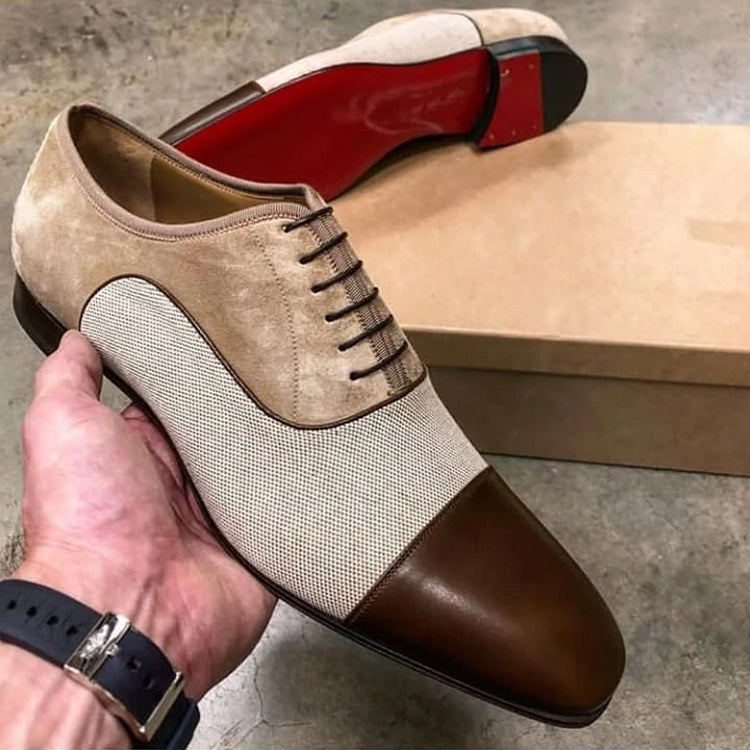 Men's Italian Handmade Oxford Cloth Shoes