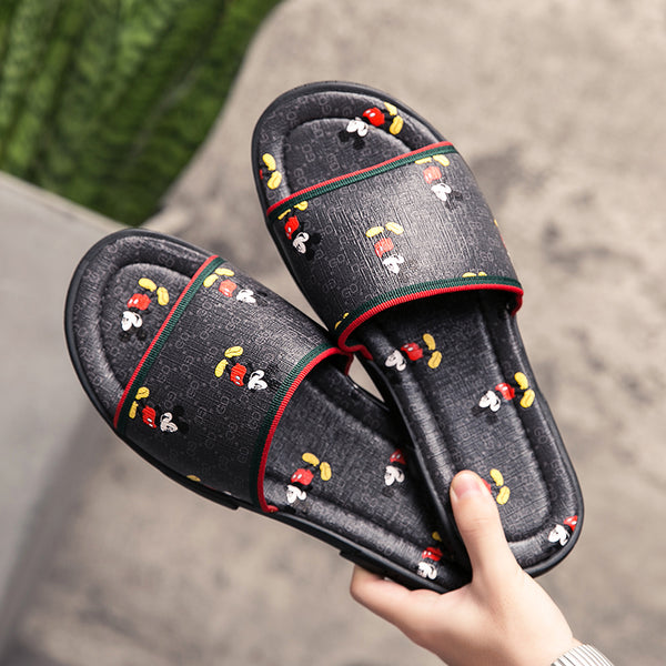 Summer Mickey slippers