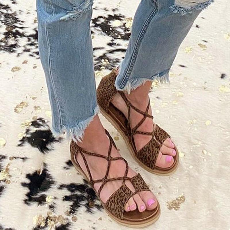 Women Large Size Roman Peep Toe Sandals