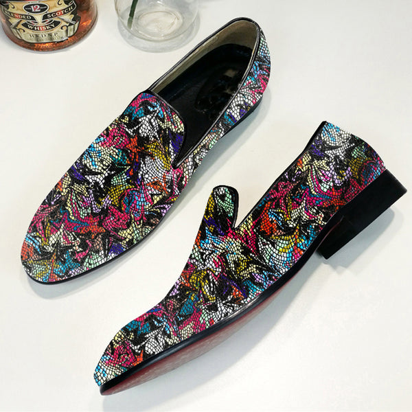 Fashion Youth Trend Flower Loafers