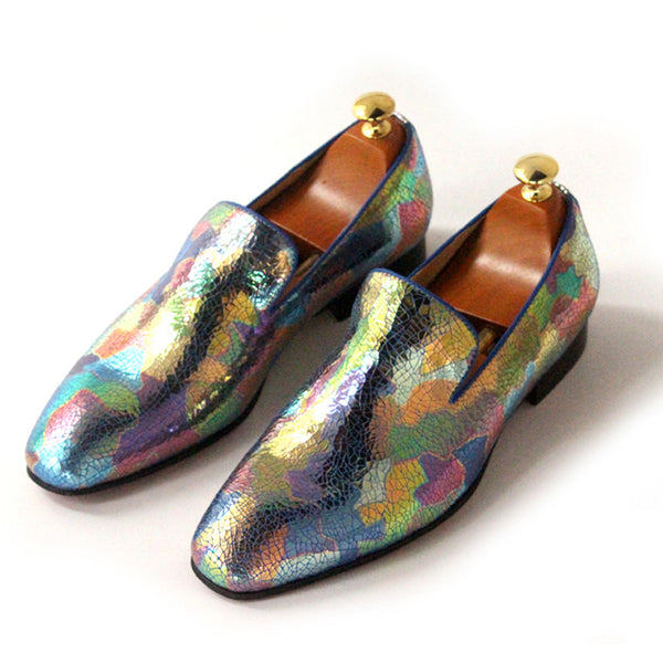 Colorful Printed Slip-on Loafers