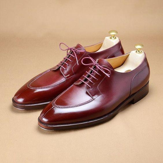 Bright Color Lace-Up Dress Shoes