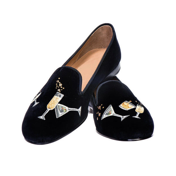 Square Toe Wineglass Pattern Leather Shoes