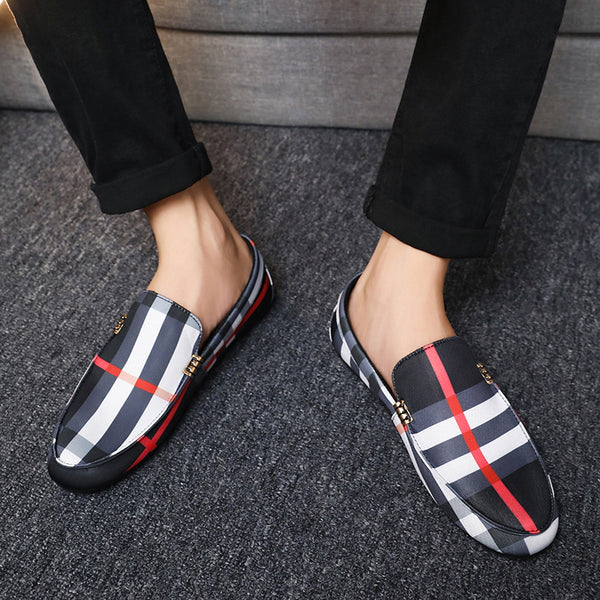 Men's Casual Plaid Loafers
